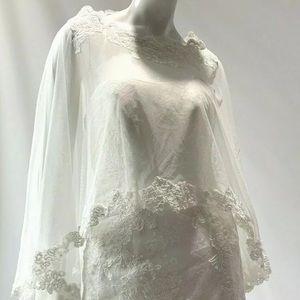 NEW!! silk-blend bridal bolero